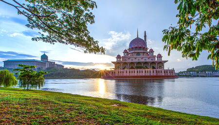 malaysia culture: The Putra Mosque, in Putrajaya, Malaysia in the morning hours Editorial