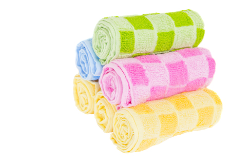 houseware: Hand towels over white background
