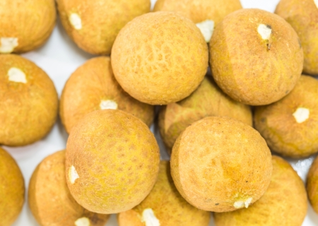 translated: Mata Kuching fruit or literally translated as   Cat Eye Fruit , a subspecies of the Longan Fruit Stock Photo