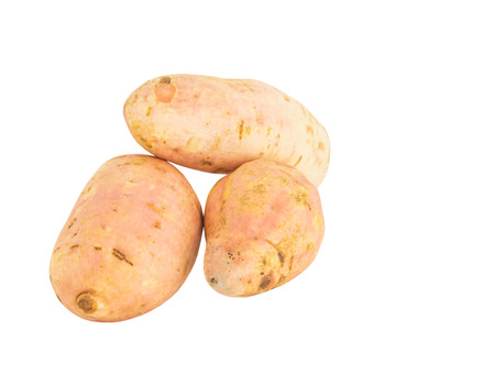 scientifically: Sweet Potato or scientifically named ipomoea batatas over white background Stock Photo