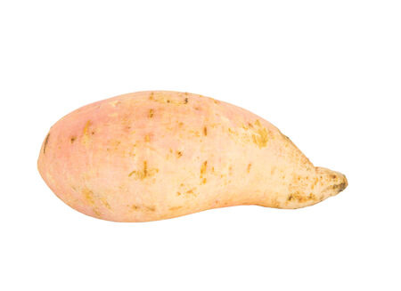 scientifically: Sweet Potato or scientifically named ipomoea batatas over white background Stock Photo