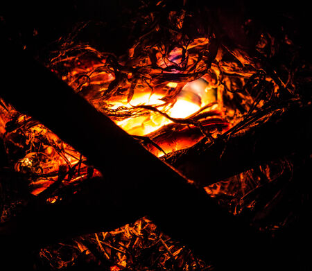 burning time: Burning ember abstract at night time