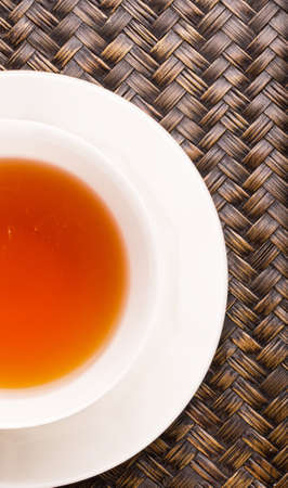 Close up view of a cup of tea photo