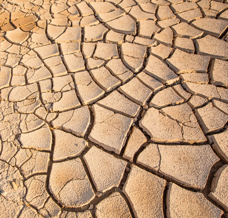 Parched soil during drought and dry season photo