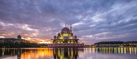 Putra mosque at dawn, Putrajaya, Malaysia photo