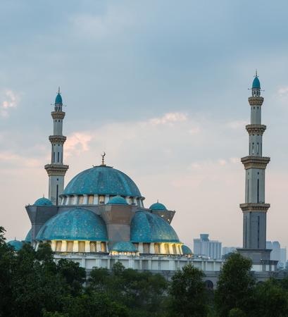 The Federal Territory mosque, Malaysia at sunrise