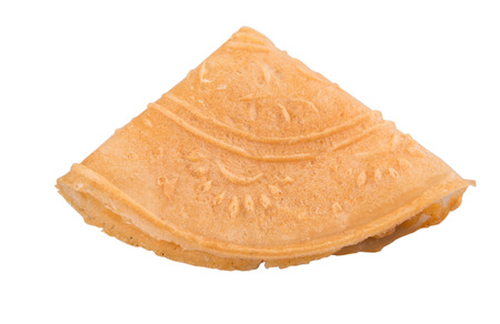 Kuih Kapit or the Chinese Love Letter biscuit over white background