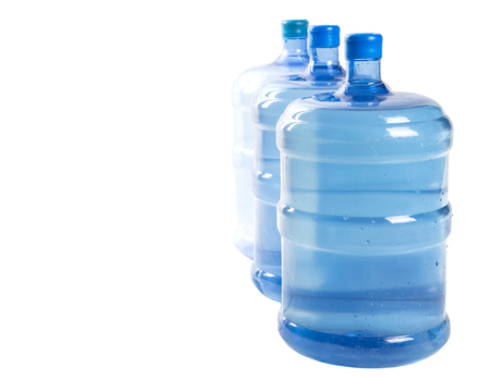 purified: Large mineral water container over white background