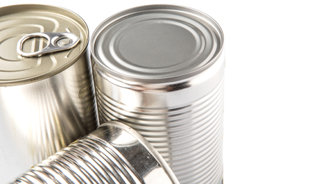 Tin can over white