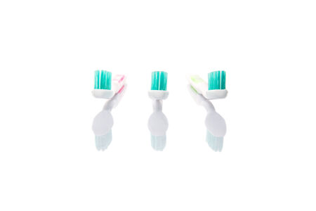 Toothbrush over white background photo