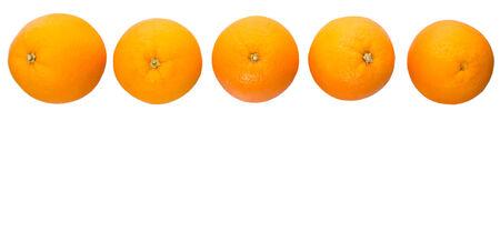 flesh colour: Orange fruit over white background
