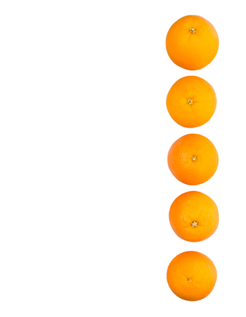 braided flexible: Orange fruits over white background