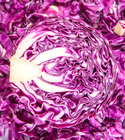 Half cut red cabbage texture