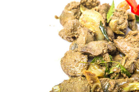 curry powder: Deep fried chicken liver with curry powder