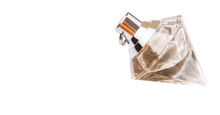 parfum: A bottle of perfume over white background Stock Photo