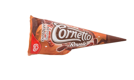 consumer goods: KUALA LUMPUR, MALAYSIA - JANUARY 1ST, 2015. Unilevers Cornetto ice cream. Unilever is the worlds third-largest consumer goods multinational company and owns over 400 products