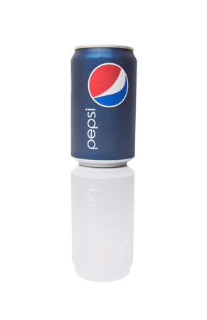 carbonated: KUALA LUMPUR, MALAYSIA - JANUARY 5TH, 2015. Pepsi is a carbonated soft drink produced and manufactured by PepsiCo Inc. an American multinational food and beverage company.