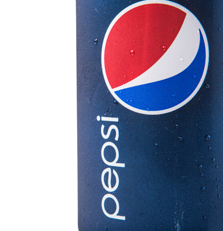 multinational: KUALA LUMPUR, MALAYSIA - JANUARY 5TH, 2015. Pepsi is a carbonated soft drink produced and manufactured by PepsiCo Inc. an American multinational food and beverage company.