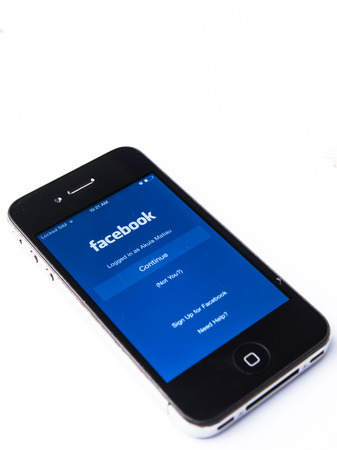 mark zuckerberg: KUALA LUMPUR, MALAYSIA - JANUARY 11th, 2015. Logging into Facebook. Founded by Mark Zuckerberg in 2004, Facebook is the leading social networking site with 1.3 billion active user all over the world.