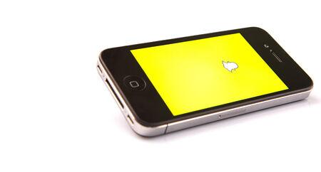 KUALA LUMPUR, Maleisië - 17 januari, 2015 Uitgebracht in september 2011, SNAPCHAT is populair een foto messaging applicatie .. In 2014 SNAPCHAT werd gezegd te worden gewaardeerd op $ 10- $ 20000000000 Redactioneel
