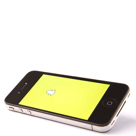 valued: KUALA LUMPUR, MALAYSIA - JANUARY 17TH, 2015. Released in September 2011, Snapchat is popular a photo messaging application.. By 2014, Snapchat was said to be valued at $10-$20 billion.