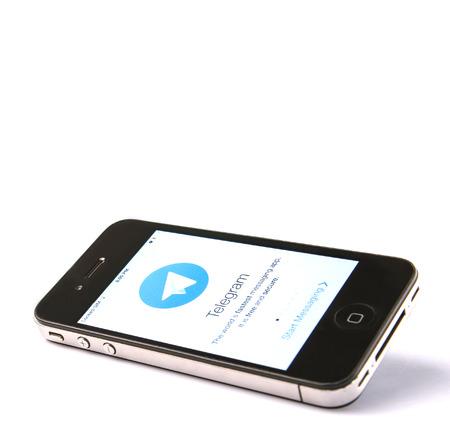 telegrama: KUALA LUMPUR, Malasia - el 19 de enero de 2015. Lanzado en 2013, el telegrama es un sistema de mensajer�a instant�nea multiplataforma y en diciembre de 2014, Telegrama anunciado que ten�an 50 millones de usuarios activos