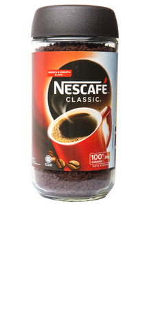 KUALA LUMPUR, MALAYSIA - JANUARY 17TH, 2015. Nescafe is a brand of instant powdered coffee made by Nestle S.A, a Swiss multinational food and beverage company, first introduced on April 1, 1938.