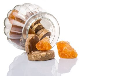 crystallize: Mix sugar variety in a glass jar