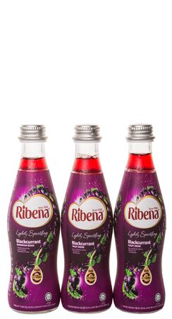 purchased: KUALA LUMPUR, MALAYSIA - JANUARY 24TH 2015. Ribena is a concentrated soft and fruit drink by British GlaxoSmithKline company. In 2013 it was purchased by Suntory Holdings Limited for US 1.35 billion. Editorial