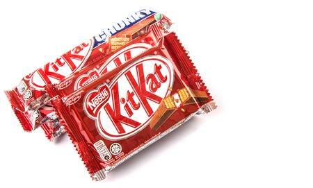 snapped: KUALA LUMPUR MALAYSIA, JANUARY 26TH 2015. Kit Kat is a chocolate covered wafer bar created in 1911 by Rowntree