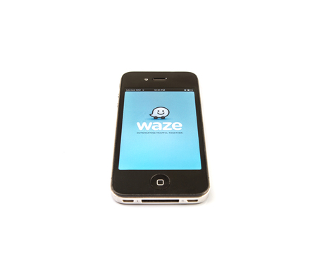 sourcing: KUALA LUPUR, MALAYSIA - JANUARY. Waze was founded in 2008 in Israel and is a community-driven GPS navigation application program for smartphones. It was sold to Google for US$1.3 billion in 2013.