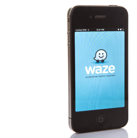 billion: KUALA LUPUR, MALAYSIA - JANUARY. Waze was founded in 2008 in Israel and is a community-driven GPS navigation application program for smartphones. It was sold to Google for US$1.3 billion in 2013.
