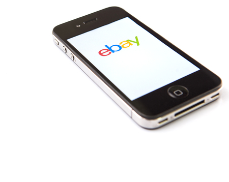 winning bidder: KUALA LUMPUR, MALAYSIA - JANUARY 28TH 2015. Ebay App. Founded in 1995, eBay Inc. is an American multinational and e-commerce corporation which manages eBay.com, an online auction and shopping website.