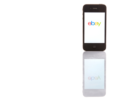 ebay: KUALA LUMPUR, MALAYSIA - JANUARY 28TH 2015. Ebay App. Founded in 1995, eBay Inc. is an American multinational and e-commerce corporation which manages eBay.com, an online auction and shopping website.