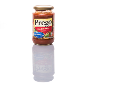KUALA LUMPUR, MALAYSIA - JANUARY 31ST 2015. Introduced internationally in 1981, Prego is a brand name pasta sauce of Campbell Soup Company. Campbells product are sold in 120 countries worldwide.