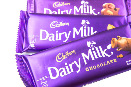 KUALA LUMPUR, MALAYSIA - FEBRUARY 11TH 2015. Owned by Mondelez International, Cadbury is the second largest confectionery brand in the world and operates in more than fifty countries worldwide.