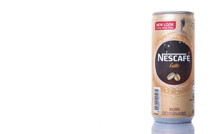 KUALA LUMPUR, MALAYSIA - FEBRUARY 13TH 2015. Nescafe Latte can drink. Nescafe is an instant coffee made by Nestle, a Swiss multinational food and beverage company, first introduced on April 1, 1938.