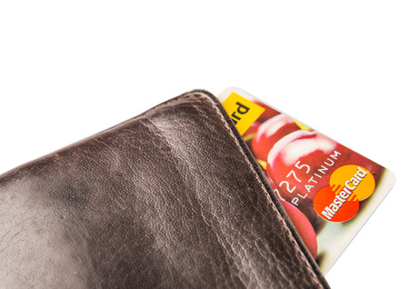 e retailers: KUALA LUMPUR, MALAYSIA - FEBRUARY 19TH 2015. Mastercard credit card in wallet. Founded in 1966, MasterCard Incorporated is an American multinational financial services corporation. Editorial