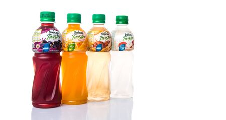 tropicana: KUALA LUMPUR, MALAYSIA - FEBRUARY 22ND 2015. Tropicana bottled fruit juices. Tropicana Products Inc. is an American fruit juice multinational company and has been owned by PepsiCo since 1998.