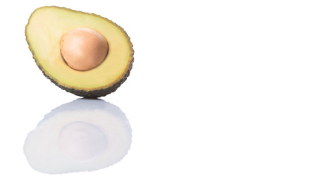 hass: Avocado fruit over white background