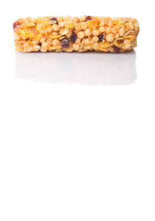 Cereal bar over white background photo