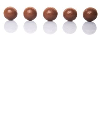choc: Chocolate balls with over white background Stock Photo