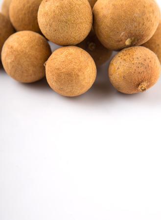 yellowrn: Longan fruit over white