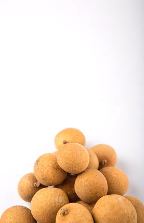 yellowrn: Longan fruit over white background Stock Photo