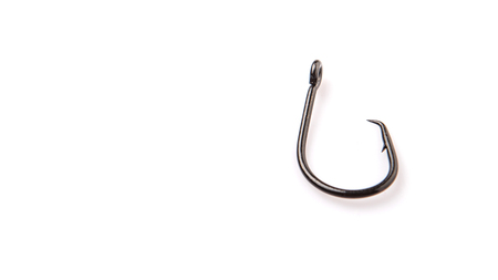 fish hook: Fish hook over white background