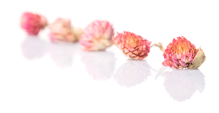 whitern: Potpourri materials of dried natural plants over white background