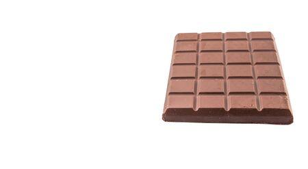whitern: Dark brown chocolate bars over white background