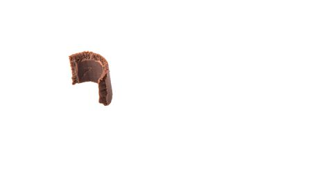 chocolate curls: Chocolate curls over white background