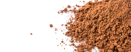 whitern: Cocoa powder over white background