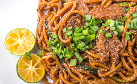 stir up: Popular Malaysian stir fried noodles close up view